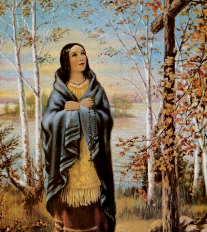 St. Kateri with cross