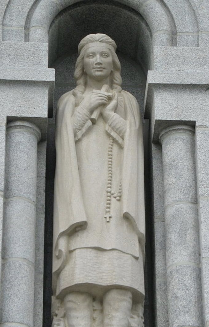 St. Kateri at shrine of St. Anne de Beaupre