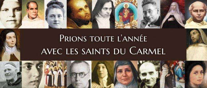 Prions toute l'année avec les saints du Carmel