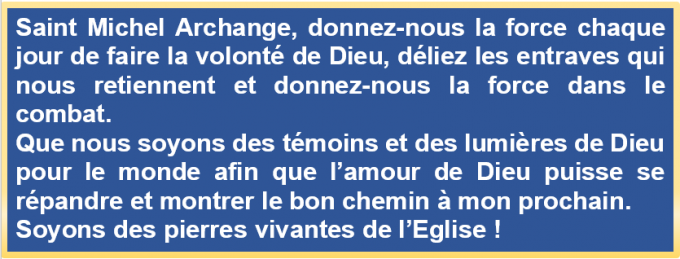 Prière à Saint Michel Archange pour être un témoin de Dieu