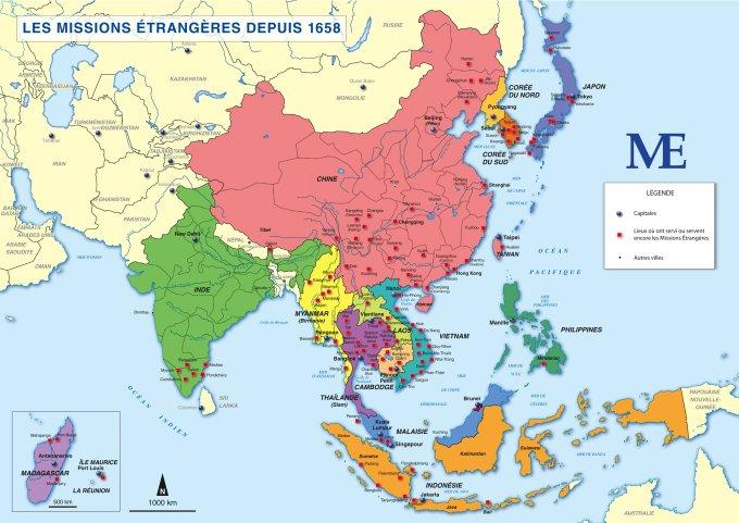 La présence des missionnaires en Asie