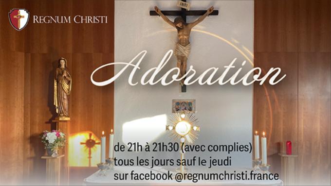 Adoration ce soir à 21. Pour les jeunes qui devaient recevoir la confirmation...