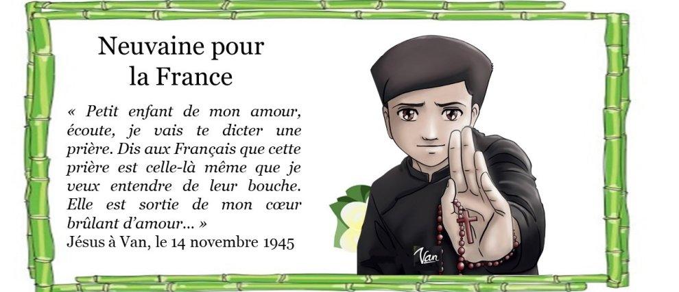 La France a besoin de nos prières ! Neuvaine avec Marcel Van
