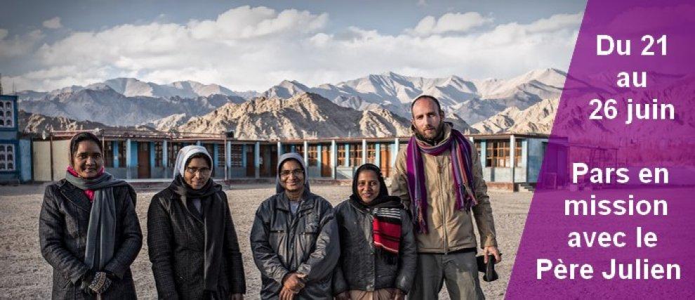 Prions pour le Père Julien, partant pour l'Inde et le Népal