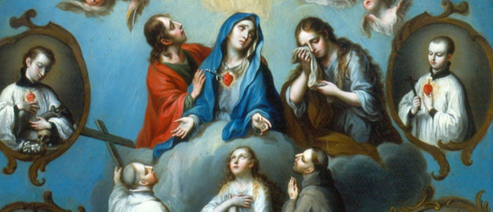 Prions les Saints autour de la Vierge Marie pour nos défunts