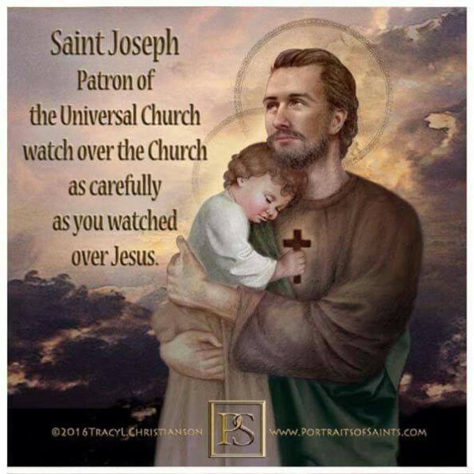 Saint Joseph, Patron de l'Eglise Universelle, priez pour nous