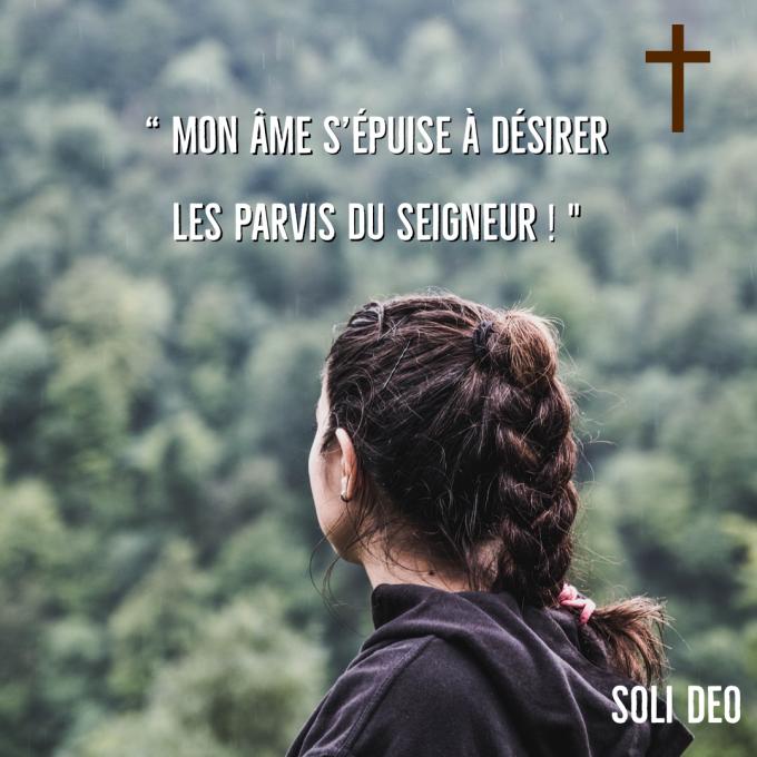 """Mon âme s'épuise à désirer les parvis du Seigneur. """" - Hozana"""