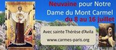 Prions pour Neuvaine Notre Dame du Mont-Carmel (8-16 juillet)