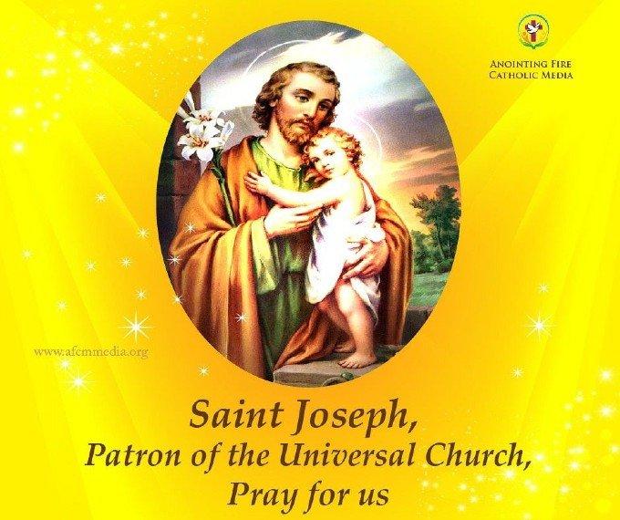 Saint Joseph, protecteur de la Sainte Église, priez pour nous,
