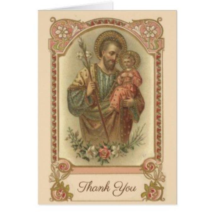 Merci Saint Joseph pour les grâces obtenues
