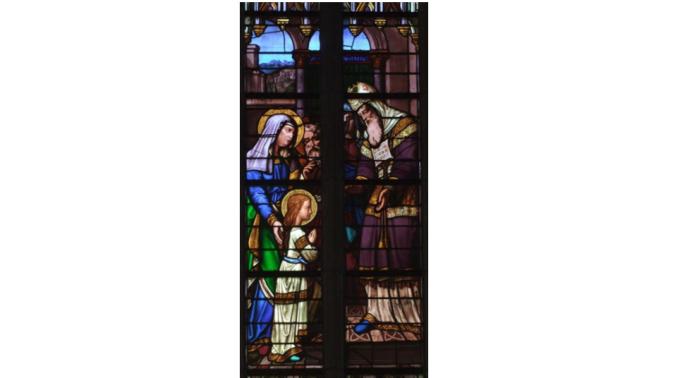 A l'âge de 3 ans, Marie est présentée au temple de Jérusalem.