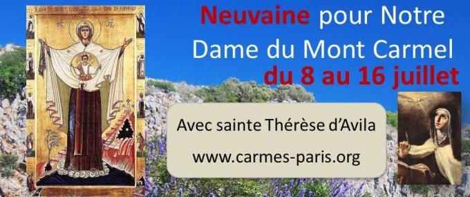 Neuvaine pour Notre Dame du Mont-Carmel (8-16 juillet)