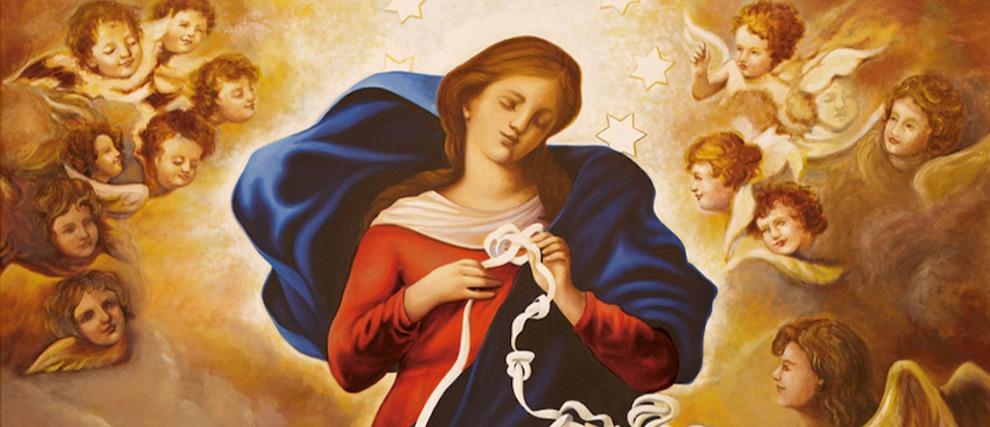Bien connu Prions Marie qui défait les nœuds - Hozana ZH74