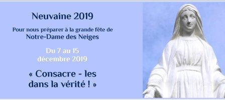 Neuvaines à Notre-Dame des Neiges 2016 à 2019