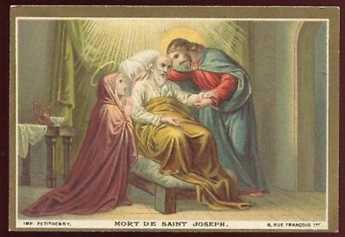 Saint Joseph qui avez expiré entre les bras de Jésus et Marie, priez pour nous