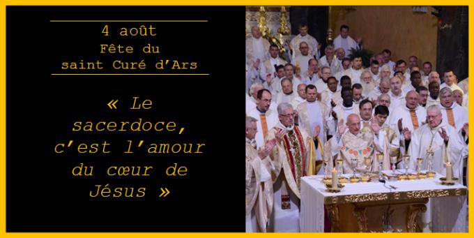 « Le sacerdoce, c'est l'amour du cœur de Jésus »