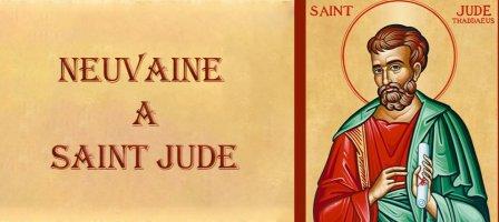 Prions pour demander l'intercession de Saint Jude Thaddée.