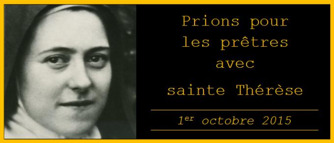 Prier pour les prêtres avec sainte Thérèse de Lisieux