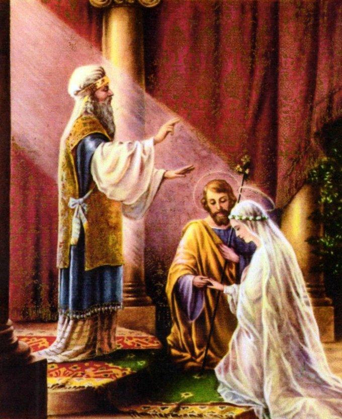17ème jour : LA REINE DU CIEL QUITTE LE TEMPLE.  ELLE ÉPOUSE SAINT JOSEPH...