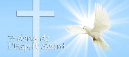 Prions pour pour obtenir les 7 dons de l'Esprit Saint