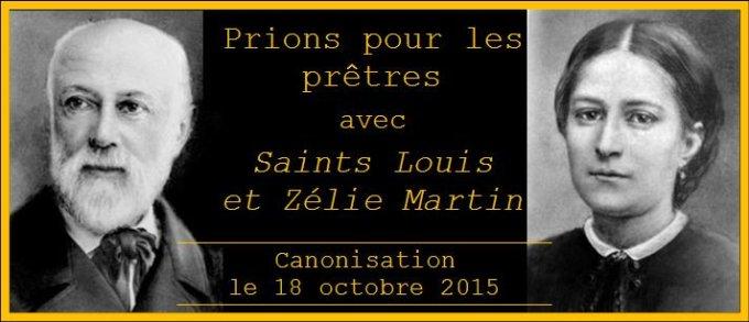 ¨Prions pour les prêtres avec les saints Louis et Zélie Martin