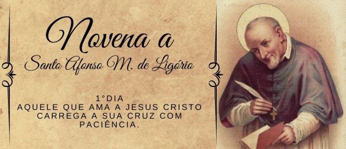 1°Dia: Aquele que ama a Jesus Cristo carrega a sua cruz com paciência.