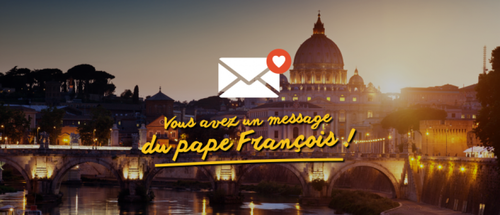 Prions avec les tweets du pape François en images