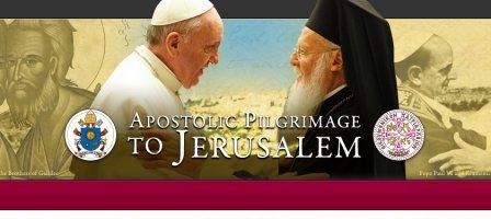 Prions pour le voyage en Terre Sainte du Pape François