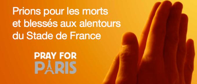 Prions pour les morts et blessés aux alentours du Stade de France