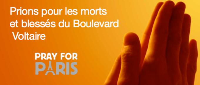 25/11/2015 : Prions pour les morts et blessés du Boulevard Voltaire