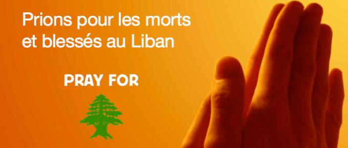 28/11/2015: Prions pour les morts et blessés du Liban