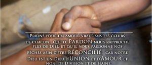 Prions pour Amour, Pardon, Réconciliation en Côte D'Ivoire