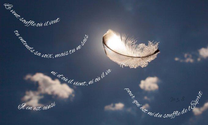 « Le vent souffle où il veut : tu entends sa voix, mais tu ne sais ni d'où il vient ni où il va. Il en est ainsi pour qui est né du souffle de l'Esprit. »