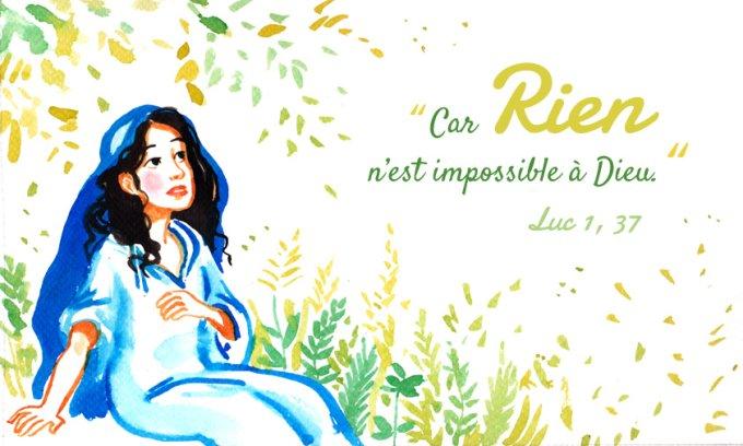 « Car rien n'est impossible à Dieu. »