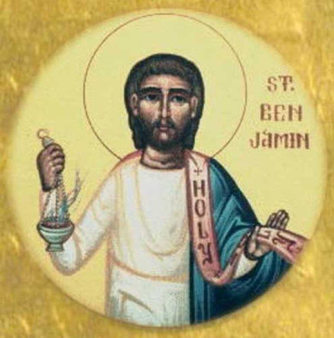 Le 31 mars : Saint Benjamin de Perse