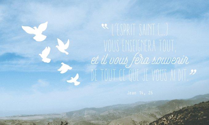 «l'Esprit Saint vous enseignera tout, et il vous fera souvenir de tout ce que je vous ai dit.»