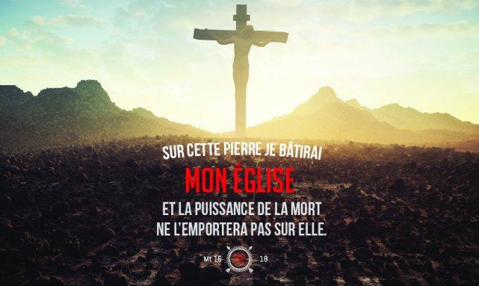 « Tu es Pierre, et sur cette pierre je bâtirai mon Église ; et la puissance de la Mort ne l'emportera pas sur elle. »