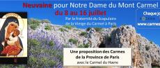 Prions Neuvaine Notre dame du Mont-Carmel (8-16 juillet)