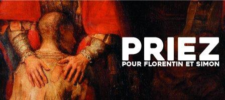 Prions pour Florentin et Simon