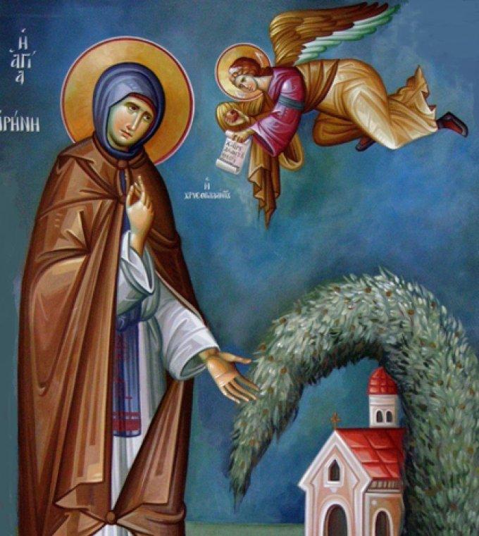 Le 28 juillet : Sainte Irène de Cappadoce