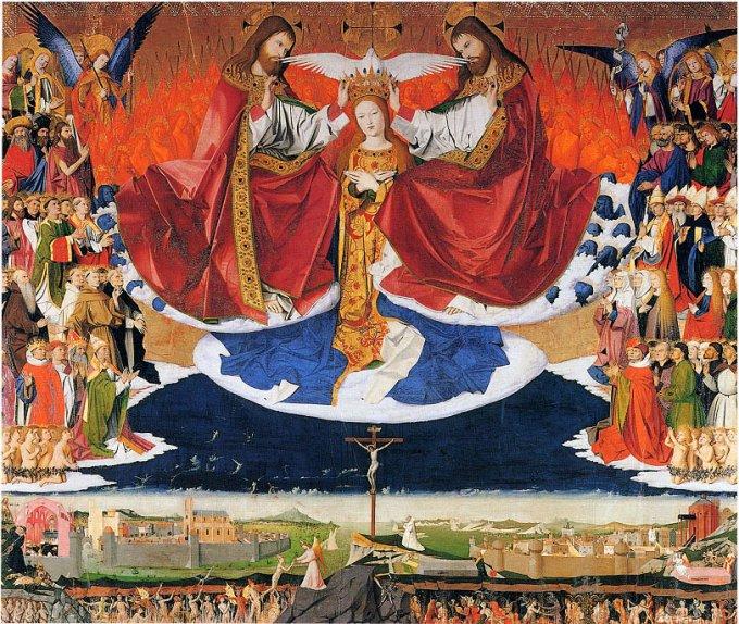 Les mystères glorieux : Le couronnement de Marie au Ciel