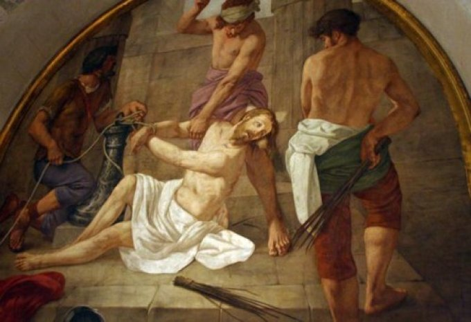 Sorrowful Mystery: the Scourging at the Pillar