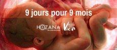 Prions pour toute Vie naissante avec 9 jours pour 9 mois