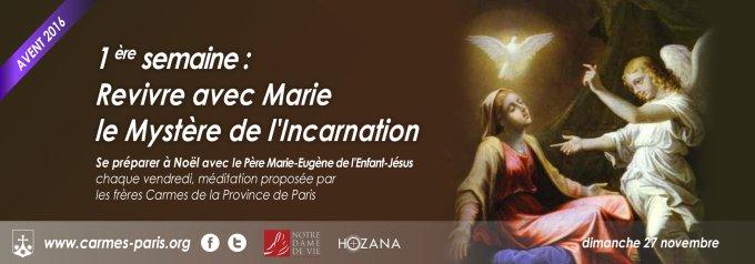 27/11 : 1er Dimanche de l'Avent : Revivre avec Marie le Mystère de l'Incarnation