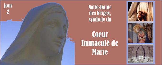 2e jour - Samedi 10 décembre : Notre-Dame des Neiges, symbole du Cœur Immaculé de Marie