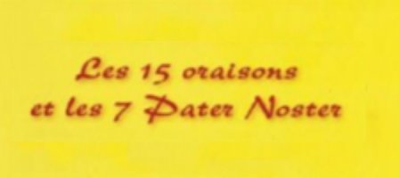 Les 7 Pater Noster