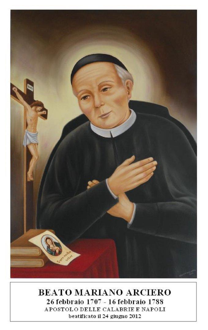 Le 16 février : Bienheureux Mariano Arciero