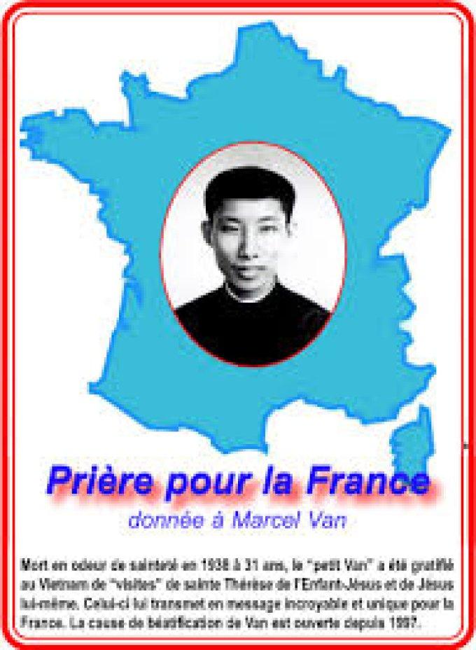 Prière pour la France donnée par Marcel Van