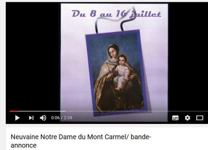J-1 pour la neuvaine de la Vierge du Carmel