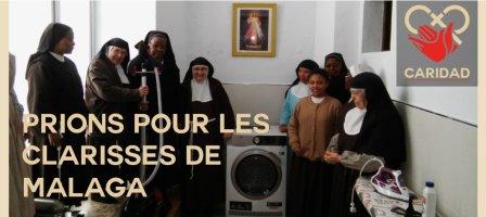 Prions pour les Clarisses de Malaga avec Caridad